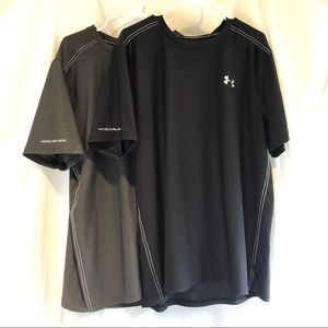 Under Armour Cold Black pair gray shirt Size 2XL
